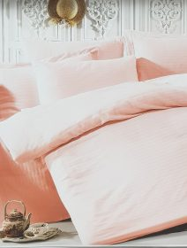 lenjerie-de-pat-satin-roz-somon
