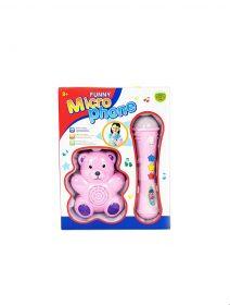 microfon-copii-roz